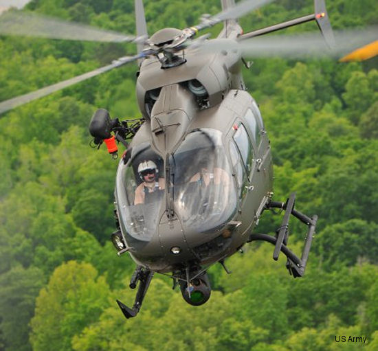 The UH-72A Lakota is a military variant of the Airbus Helicopters EC145