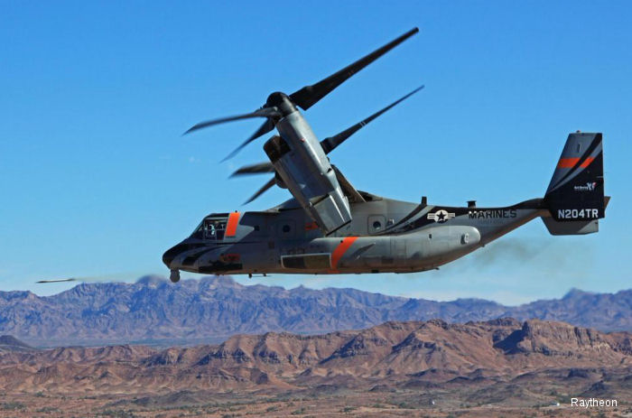 Raytheon and Bell Helicopter completed two successful launches of the Griffin B missile from a Bell Boeing V-22 Osprey at Yuma Proving Ground, Arizona.