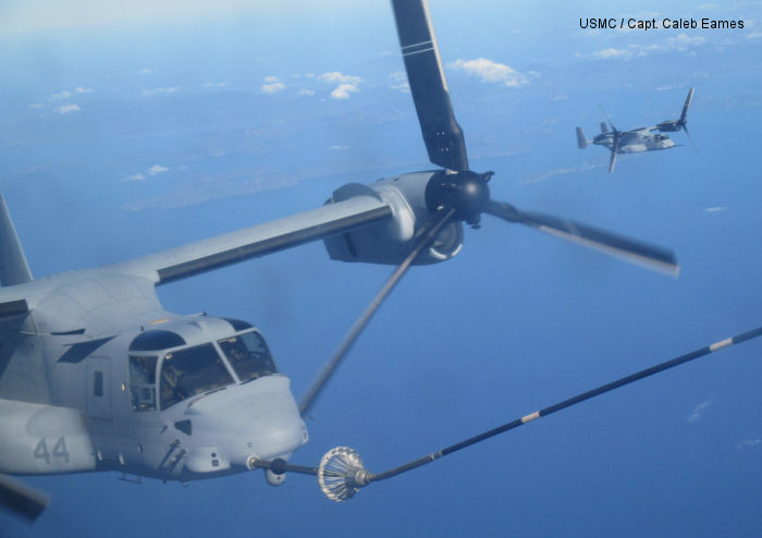 Ospreys refuel in mid-air en route to Singapore