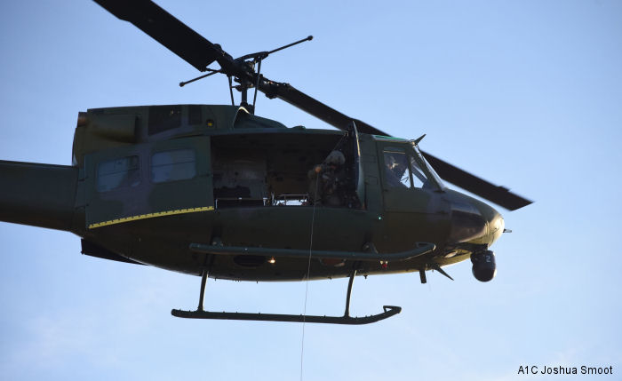 A UH-1N Huey helicopter crew assigned to the 40th Helicopter Squadron  rescued an injured female hiker on July 5th marking the 408th save for the 40th HS.