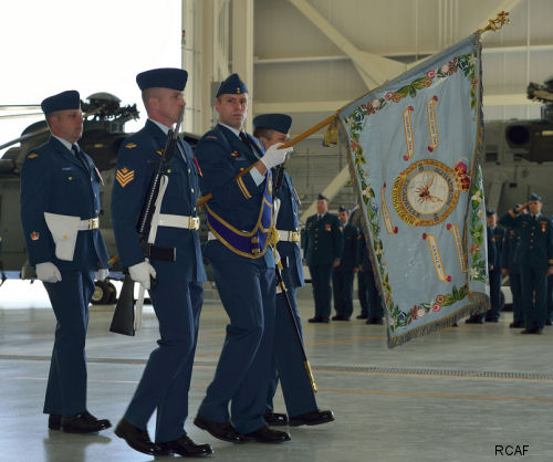 443 Maritime Helicopter Squadron: New hangar opened and new Colour consecrated