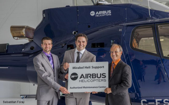 Airbus Helicopters Canada announce that they have chosen Mirabel Heli Support to increase their proximity support in the east.