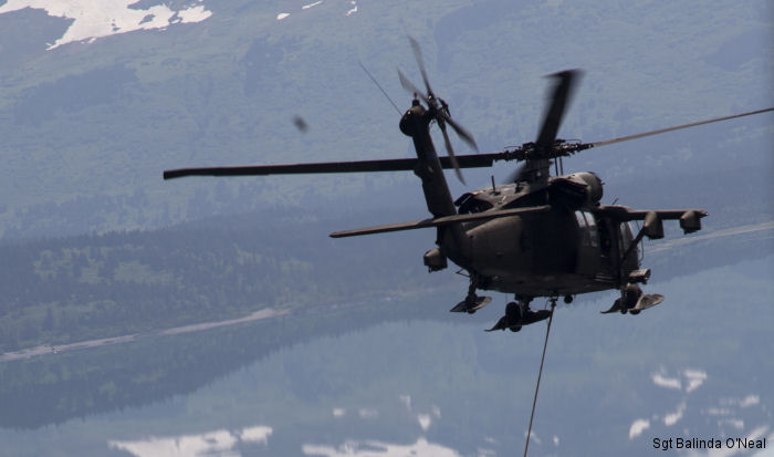 Alaska Army National Guard Black Hawk crews help fight Alaska fires