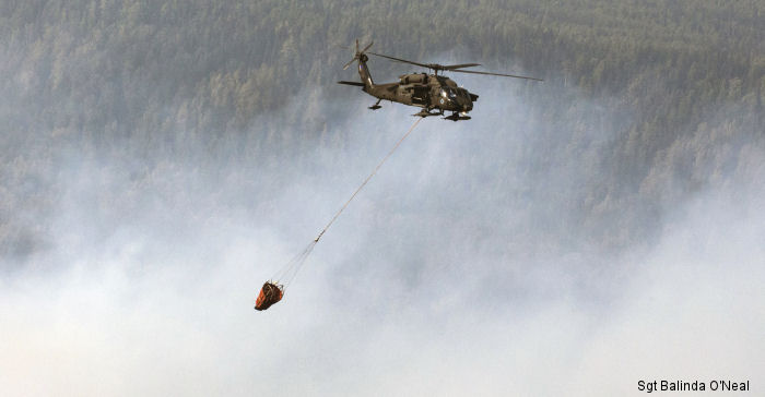 Alaska National Guard Black Hawks Fight Fires