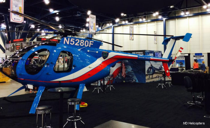 MD Helicopters (MDHI) will feature one of 8 MD500Es in active service with the Houston Police at the 2015 Airborne Law Enforcement Association (ALEA) Expo, July 15-17 in Houston, Texas