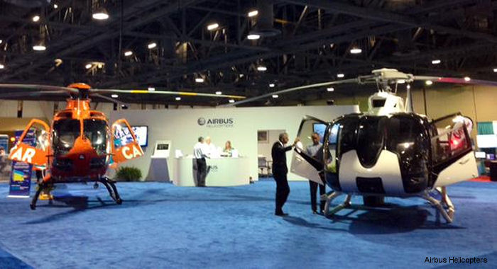 Airbus Helicopters USA H130 and H135 models will be present at the Air Medical Transport Conference (AMTC) 2015, Long Beach Convention Center, California, Oct.19-21