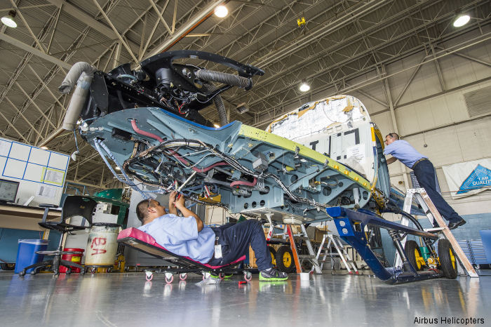 Airbus Helicopters Inc at Grand Prairie Texas delivered the Florida Lee County Sheriff's AS350BA AStar helicopter after completion of the aircraft's second 12-year Inspection.