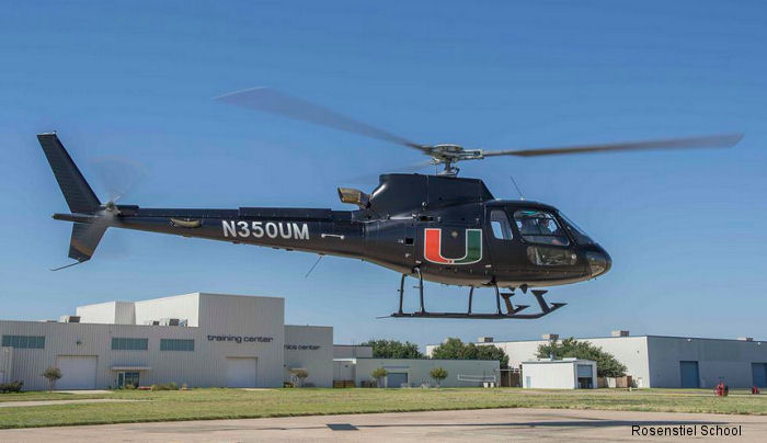 University of Miami (UM) Rosenstiel School of Marine and Atmospheric Science new AS350B3e known as Helicopter Observation Platform (HOP) to obtain vital information about our climate and human health.