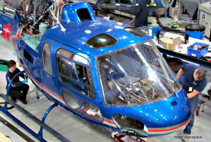 Vector Aerospace Helicopter Services North America (HS-NA) has recently conducted three AS350 12-year inspections with plans to conduct a fourth this month. Also recently completed its first EC130B4