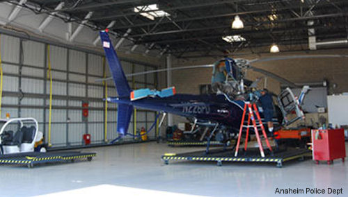 Vector Aerospace signed a three-year contract with the Anaheim Police Department to provide maintenance, repair and overhaul (MRO) support for their AS350B2 helicopters components.