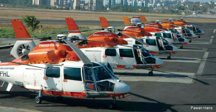 Pawan Hans from India Dauphin fleet consisting of 18 SA365N versions, and 17 in the AS365N3 configuration have accumulated 450,000 airborne hours