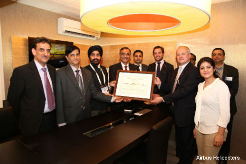 India Pawan Hans receives Airbus Helicopters Excellence Award in logging 450,000 flight hours with its Dauphin fleet
