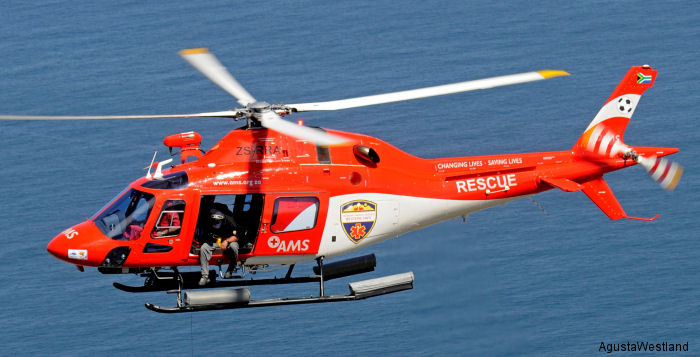 South African Red Cross Air Mercy Service (AMS) has signed a contract for three AW119Kx EMS-equipped helicopters to expand their existing fleet of five AW119Ke aircraft.
