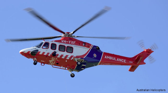 Australian Helicopters unveiled one of the new AW139 air ambulances which will be used to support Ambulance Victoria when the 10-year contract starts next January.
