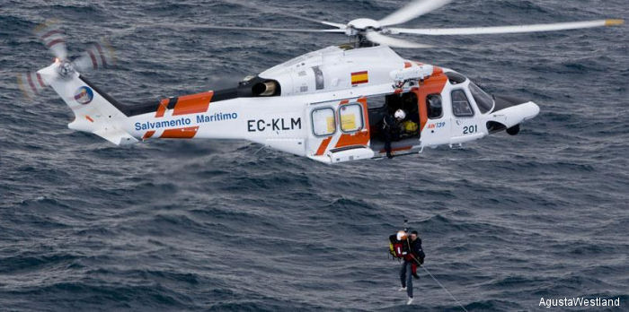 A Search and Rescue equipped AW139 operated by Spanish <a href=/database/modelorg/397/>SASEMAR</a>. Indonesia Rescue Service orders one to be delivered by the end of 2015