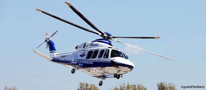 Yunnan Provincial Police Department ordered one AW139 helicopter to enter service in 2016 bringing the total number of AW139s in China for public services roles in various provinces to seven.