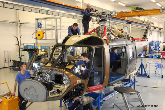 AgustaWestland new generation AW169 4.5-tonne class helicopter has entered full scale production at Vergiate facility in Italy.  A second final assembly line is planned at Philadelphia USA.