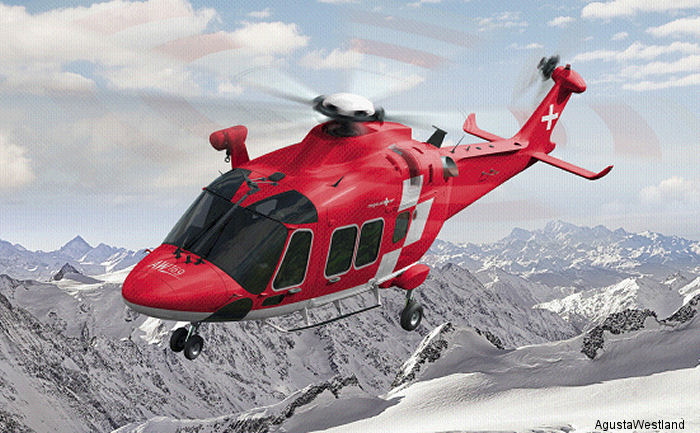 Swiss rescue service Rega orders 3 AW169 with Full Ice Protection System for delivery in 2020. Over 150 AW169s sold worldwide so far