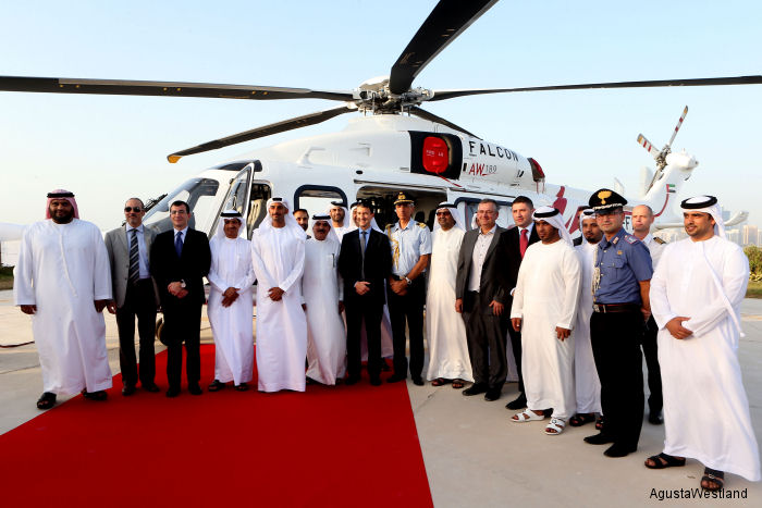Falcon Aviation Services Takes Delivery of Two AW189 Helicopters
