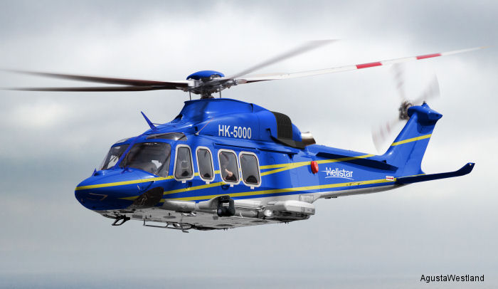 Helistar de Aviacion of Colombia will received in 2016 their third AW139 and one AW189 for offshore transport missions in support of the oil and gas industry.