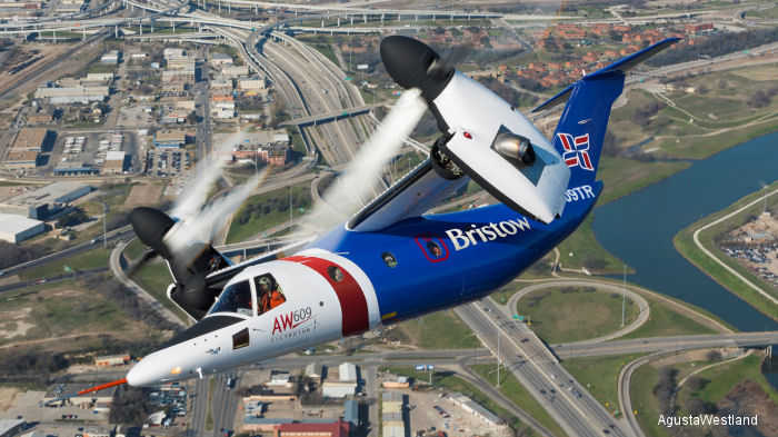 AgustaWestland and Bristow announced the signing of a platform development agreement for the AW609 TiltRotor programme.