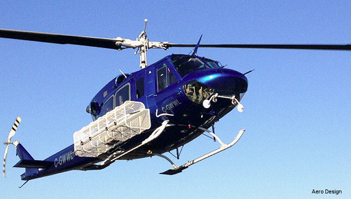 Canadian Aero Design announce FAA certification of The Aero Design MEGA Basket for the Bell 205 and 212 helicopters
