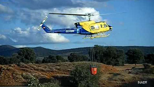 Spain Ministry of Agriculture, Food and the Environment (Magrama) awarded contracts to INAER for four Bell 212 to provide firefighting and surveillance services for the 2015 winter-spring season