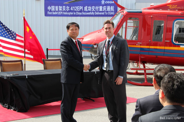Bell Helicopter Delivers Bell 412EPI to Chongqing General Aviation