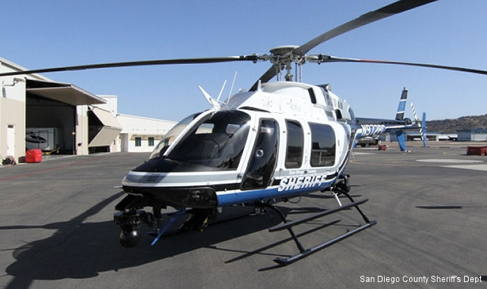 San Diego County Sheriff s Department in California unveils their new Bell 407GX helicopter