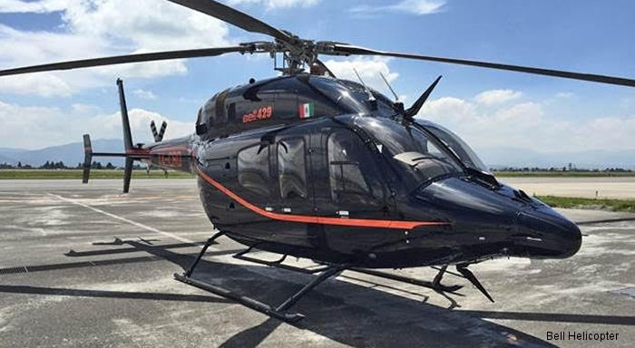 Servicios Aereos Across, a Bell 407GX charter service based in Toluca Mexico, recently received a Bell 429.