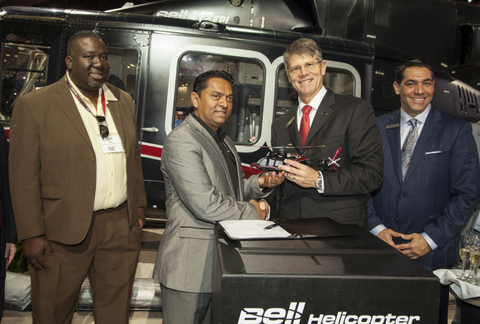 The National Operations Centre, Air Division (NOCAD) of Trinidad and Tobago orders four Bell 429s for Airborne Law Enforcement (ALE) and one Bell 412EPI for Search and Rescue (SAR)