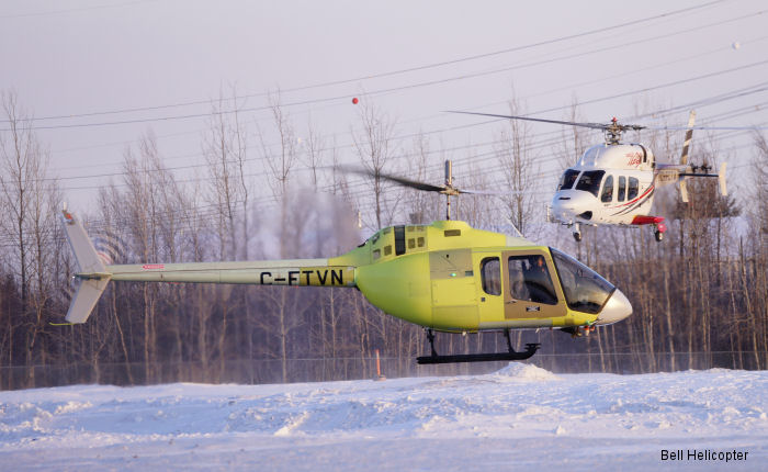 The Bell 505 Jet Ranger X's second flight test vehicle has successfully achieved its first flight