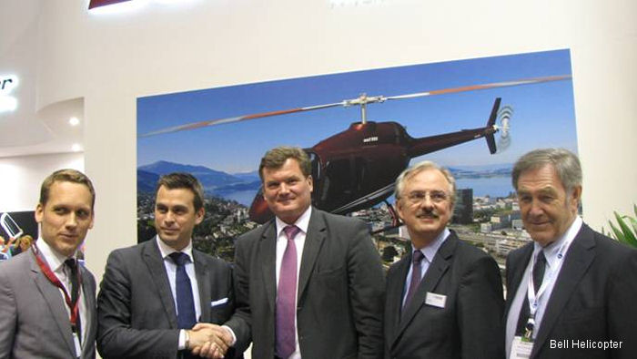 Atlas Air Service from Ganderkesee, Germany signed a Letter of Intent (LOI) for two Bell 505 Jet Ranger X helicopters at EBACE 2015 in Geneva.