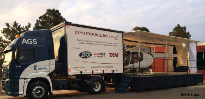 Bell 505 Jet Ranger X Travels South for Demo Tour