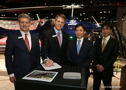 SECO International in Japan has entered into a letter of intent to order 10 Bell 505 Jet Ranger X helicopters. Sale is another key milestone for Bell Helicopter's new Japan office