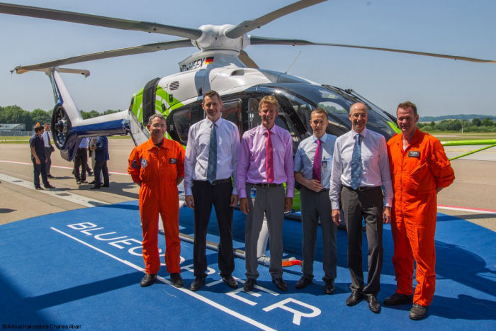 Eco-friendly and eco-efficient technologies of tomorrow take to the sky with Airbus Helicopters Bluecopter demonstrator