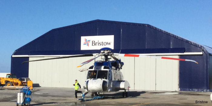 Bristow added a new hangar and modular offices at Stanley Airport in the Falkland Islands capable to house three Sikorsky S-92 helicopters.