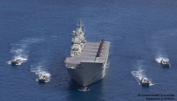 The Royal Australian Navy's Amphibious Ship, HMAS Canberra, has completed a graduated operational test and trials program to achieve a key milestone towards Initial Operating Capability (IOC).