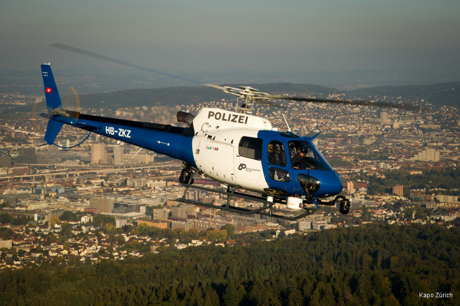 Swiss Zurich cantonal police presented their new helicopter contracted from Heli Linth AG. It is co-financed by several partner organizations and is based in Dübendorf
