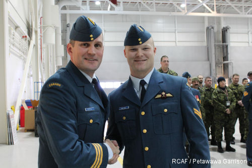 First 'made in Canada' F-model Chinook flight engineer earns his wings