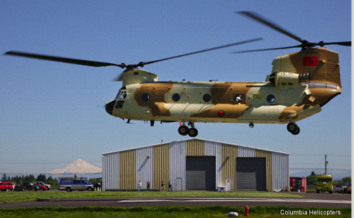 Royal Moroccan Air Force had just acquired three ex US Army CH-47D Chinook helicopters with requirement to bring them to an almost new condition before delivery.