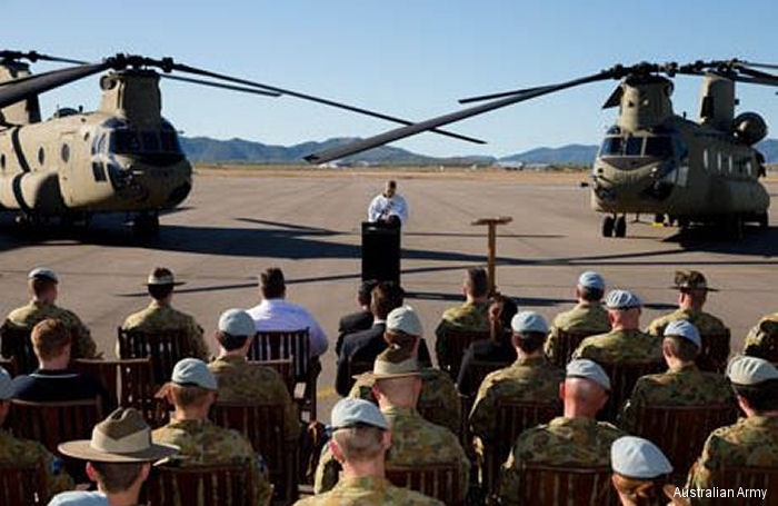 Australia Accepts New Boeing CH-47F Chinook Aircraft