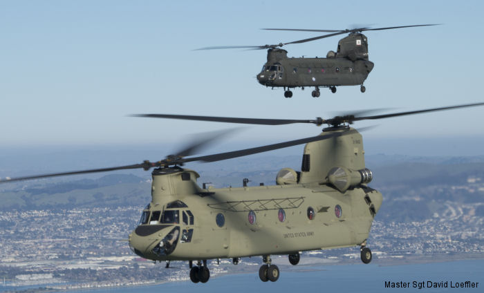 Ten of twelve new CH-47F Chinooks helicopters have arrived in Stockton to served with the California Army National Guard as replacement of their old CH-47D models