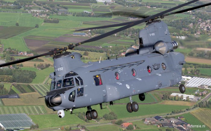 Netherlands requested 17 CH-47F Chinook due $1.05 billion to replace the remaining CH-47D Models. The Koninklijke Luchtmacht already operates six F helicopters.