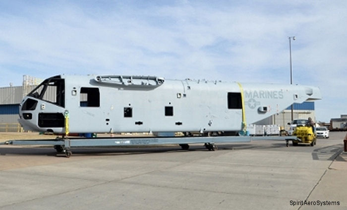 Spirit AeroSystems delivered the third fuselage section for the Sikorsky CH-53K King Stallion heavy lift helicopter program s System Demonstration and Test Article (SDTA) contract.