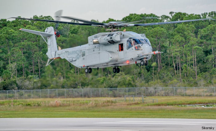 U.S. Marine Corps new heavy lift helicopter CH-53K King Stallion  prototype, known as Engineering Development Model EDM-1 completed successful first flight