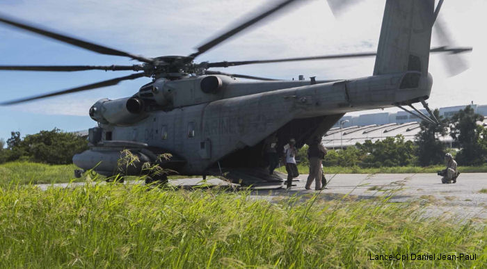 U.S. Marines with Marine Heavy Helicopter Squadron HMH-462 worked alongside the Japan Self Defense Force (JSDF) in the Churashima Rescue Exercise training for disaster relief aboard Camp Naha, Okinawa, Japan