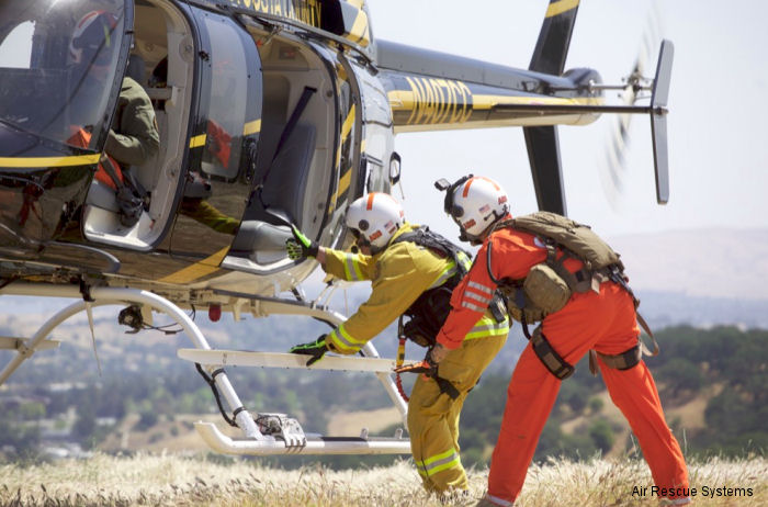 "Air Rescue Systems Corp (ARS) completed stand-up Short Haul rescue operations training for the California Contra Costa County Sheriff's (CCCSO) ""STARR ONE"" Aviation Unit"