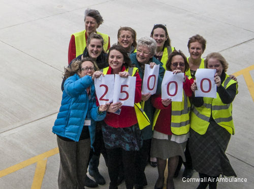 Cornwall Air Ambulance Flies 25,000th Mission