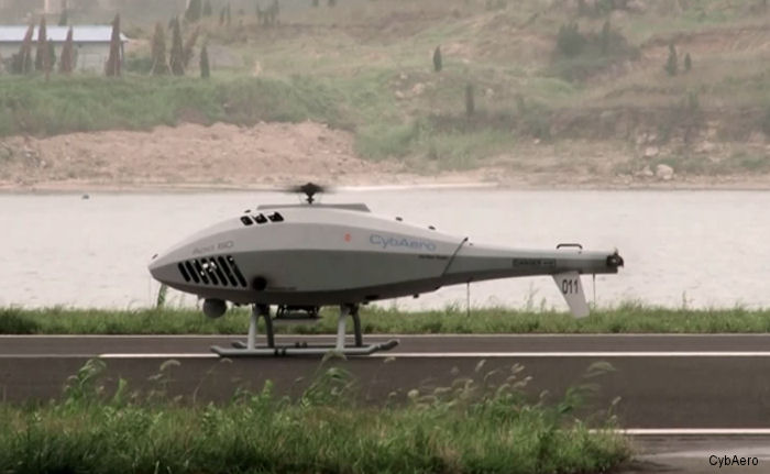 CybAero, which develops and manufactures remotely piloted helicopter systems, received an order in January 2014 for three systems to China Customs.